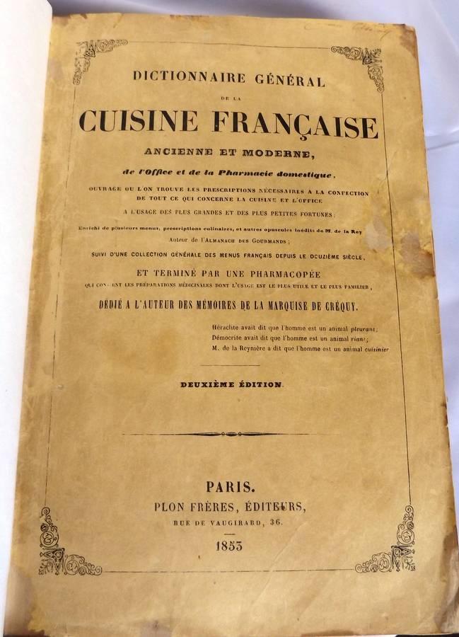 Cousin de courchamps comte maurice dictionnaire - Dictionnaire de la cuisine ...